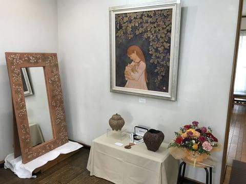 革絵と鏡 レザークラフト教室 革工芸教室