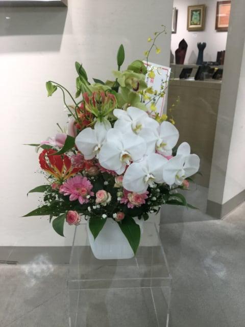 お祝いの花ー3 レザークラフト教室 革工芸教室