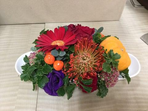 お祝いの花−8 レザークラフト教室 革工芸教室