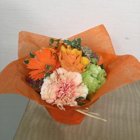 お祝いの花ー5 レザークラフト教室 革工芸教室