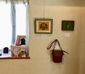 革工芸作品展示風景−3 レザークラフト教室 革工芸教室