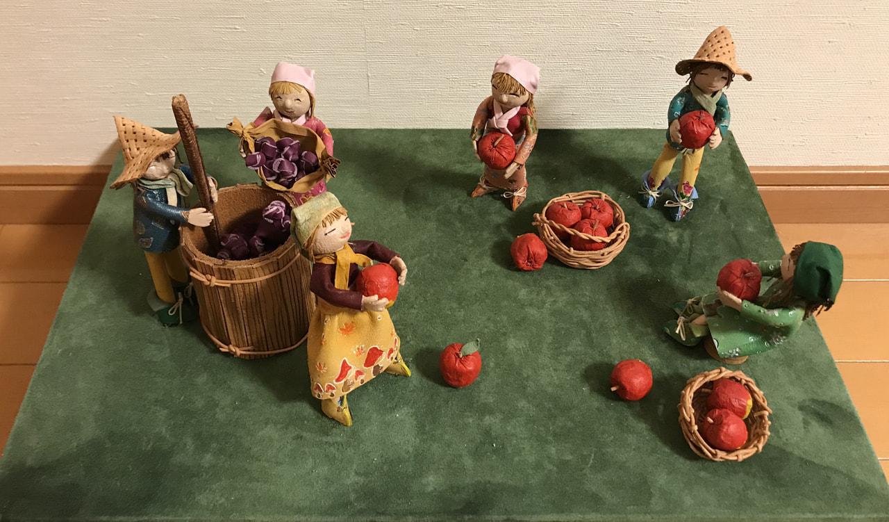 立体造形『収穫』第35回日本革工芸展入選作品
