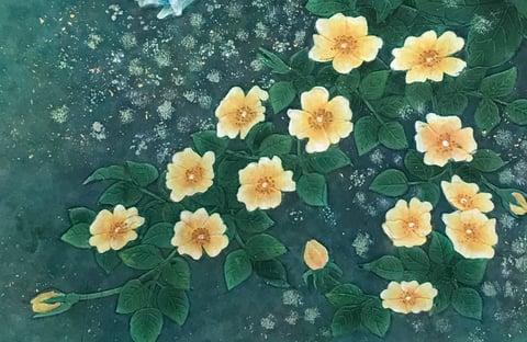 野薔薇のろうけつ染 レザークラフト教室 革工芸教室