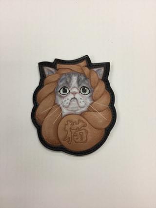 レザークラフト教室 フィギュアカービング しめ縄猫