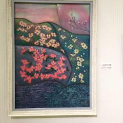 革絵『はなみずき幻想』第35回日本革工芸展入選作品