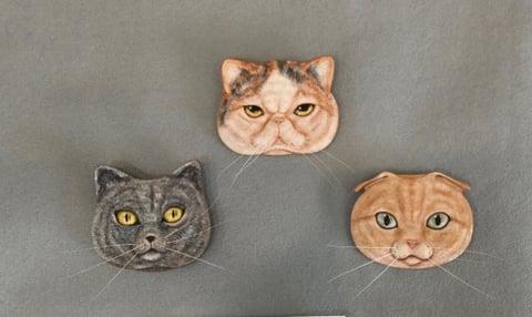 猫のブローチ レザークラフト 教室 革工芸教室