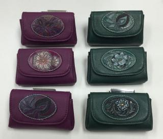 レザークラフト ソフト折マチ財布