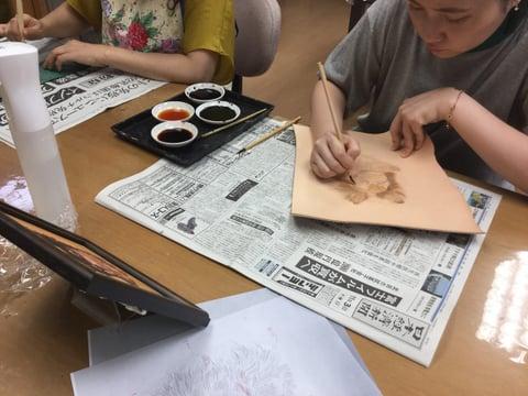 フィギュアカービング チワワ4 レザークラフ 教室 革工芸教室