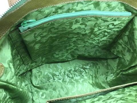 ファスナーポケット バッグ完成 レザークラフト教室 革工芸教室