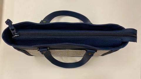 手描き更紗バッグ上から レザーアート研究会 革工芸教室
