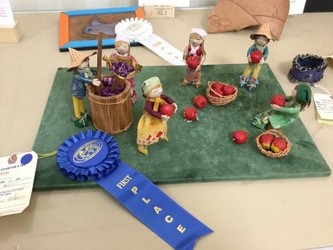 レザードール展示風景 レザークラフト教室 革工芸教室