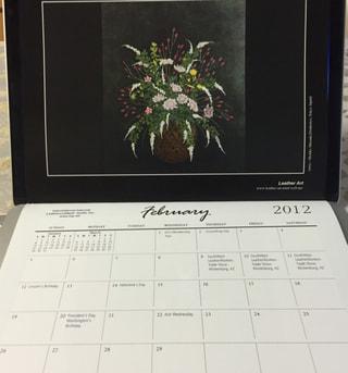 レザークラフト IILGカレンダー