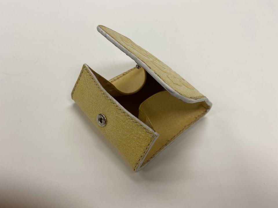 コインボックス開き方  レザークラフト教室 革工芸教室