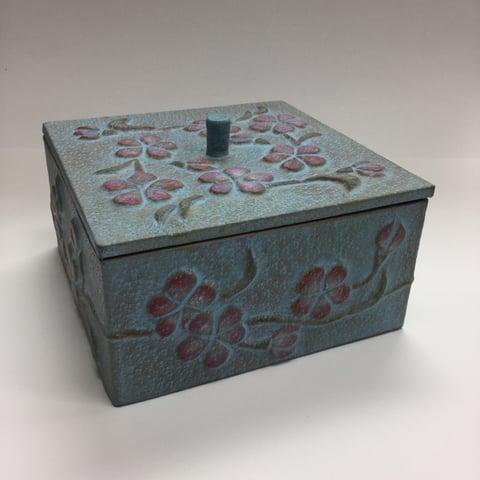 革の小箱パッキング レザークラフト教室 革工芸教室