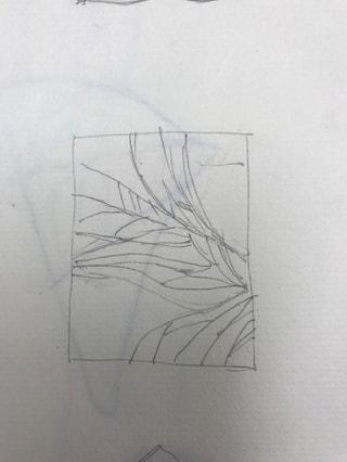 レザークラフト教室 革工芸教室 ラフスケッチ