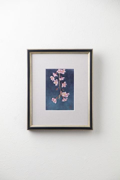 枝垂れ桜 レザークラフト教室 革工芸教室