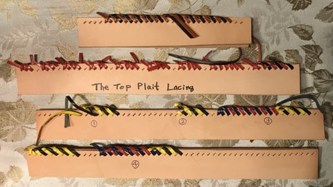The Top Plait Lacing レザークラフト教室 革工芸教室