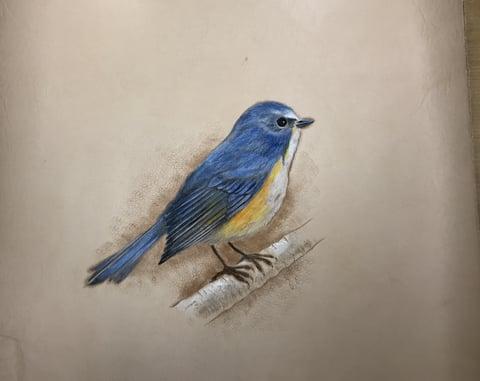 フィギュアカービング鳥 レザーアート研究会 革工芸教室