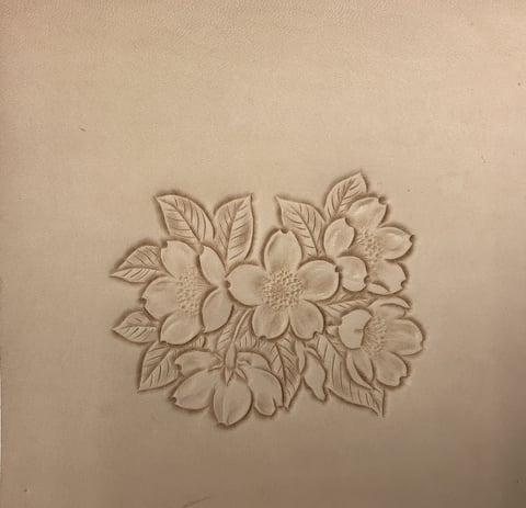 桜カービング レザークラフ教室 革工芸教室