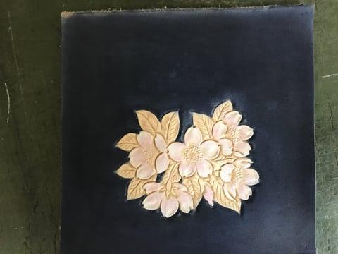桜染色 レザークラフ教室 革工芸教室