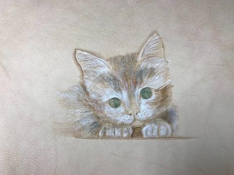 フィギュアカービング猫8 レザークラフ 教室 革工芸教室