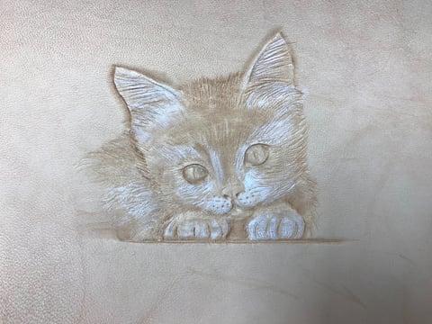 フィギュアカービング猫7 レザークラフ 教室 革工芸教室