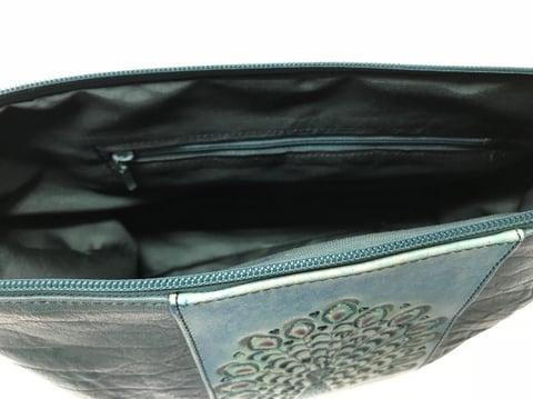 孔雀カービングバッグ内袋 レザークラフト教室 革工芸教室