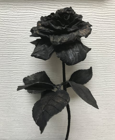 薔薇の花 レザークラフト教室 革工芸教室