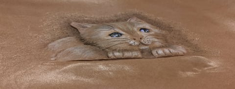 フィギュアカービング子猫完成下から レザークラフ 教室 革工芸教室