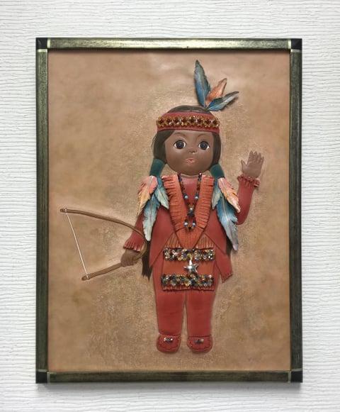 革絵・人形 レザークラフト教室 革工芸教室
