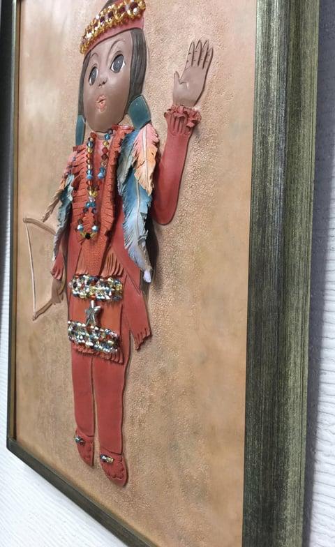 革絵・人形横から レザークラフト教室 革工芸教室
