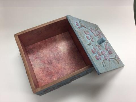 革の小箱内側 レザークラフト教室 革工芸教室