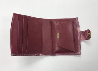 レザークラフト教室 革工芸教室 ろうけつ染め財布内側