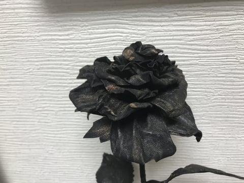 薔薇の花拡大写真 レザークラフト教室 革工芸教室