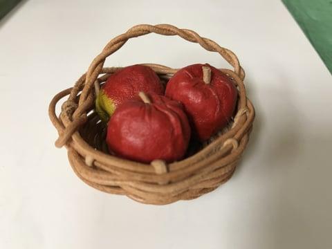 りんごのカゴ レザークラフト教室 革工芸教室