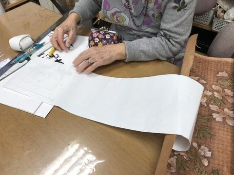 鏡寸法採り レザークラフト教室 革工芸教室