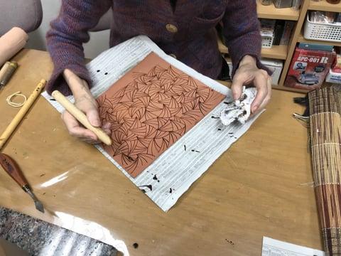 ろうけつ染め レザークラフト教室 革工芸教室