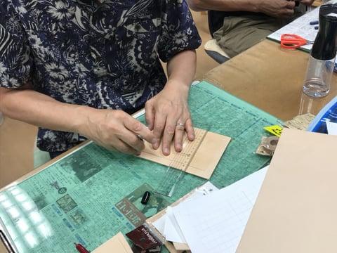 札入れ制作 レザークラフト教室 革工芸教室