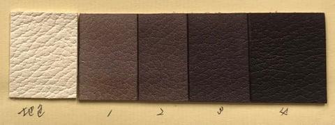 草木染め見本2 レザークラフト教室 革工芸教室