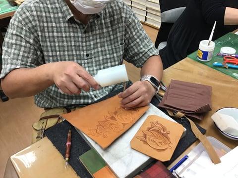 馬のカービング レザークラフト教室 革工芸教室