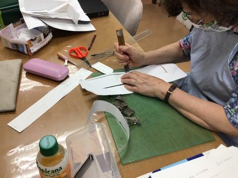 型紙制作 レザークラフト教室 革工芸教室