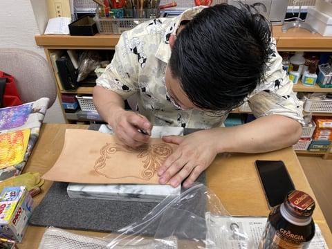 シェリダンスタイルカービング レザークラフト教室 革工芸教室