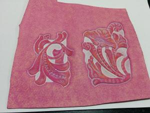 スマポケース梨地染色 レザークラフト教室 革工芸教室