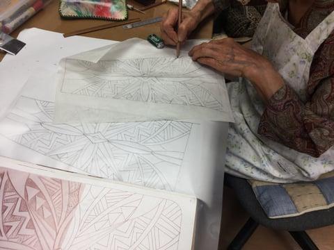 バッグ図案 レザークラフト教室 革工芸教室