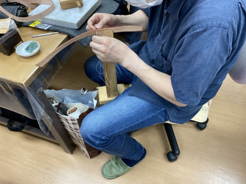 リード手縫い レザークラフト教室 革工芸教室