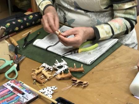 レザー干支3 レザークラフト教室 革工芸教室