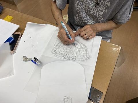 レザークラフト デザイン画 レザークラフト教室 革工芸教室