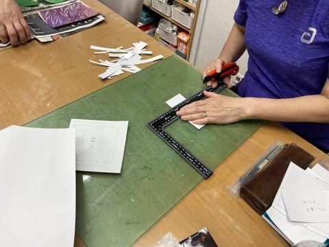 型紙づくり レザークラフト教室 革工芸教室