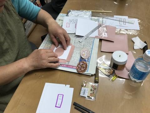 ワンポイント仕立て レザークラフト教室 革工芸教室