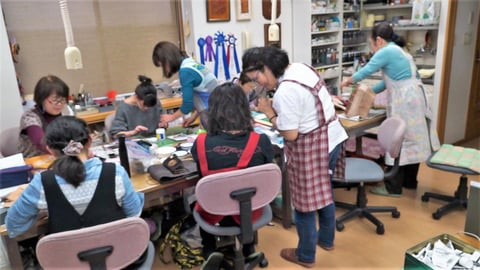 教室風景 レザークラフト 教室 革工芸教室